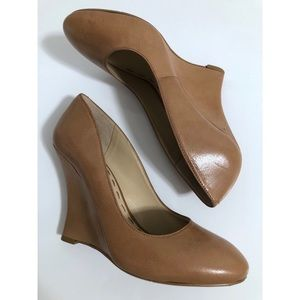 Nine West Leather Wedges - Tan, Size 7.5M